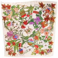 Liberty of London Flowers & Flags Silk Print Scarf