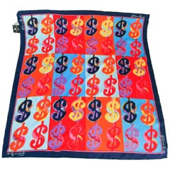 Andy Warhol Dollar Pop Art Silk Scarf