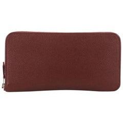 Hermes Azap Zip Around Wallet Silk'in Epsom Long