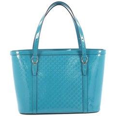 Gucci Nice Tote Patent Microguccissima Leather Medium