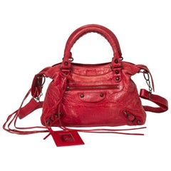 Balenciaga Town in Red calf leather