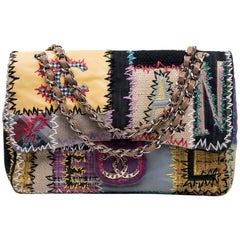 CHANEL Jumbo Flap Bag in Patchwork Fabric