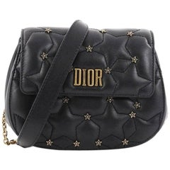 Christian Dior Dio(r)evolution Round Clutch with Chain Studded Leather Small