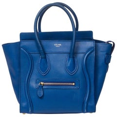 Celine Luggage in Electric Blue calf leather
