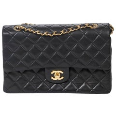 Chanel Classic Double Flap 26cm in Black calf leather