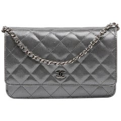 CHANEL 'Wallet on Chain' Flap Bag in Metallic Leather