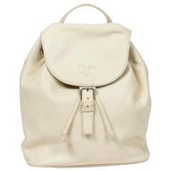 Prada Backpack in Ivory calf leather