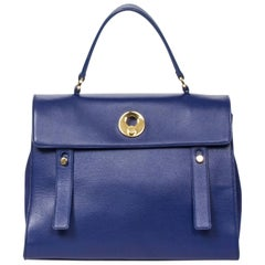 Yves Saint Laurent Muse 2 New Model in Blue calf leather