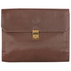 GUCCI Vintage Brown Leather PORTFOLIO Document Holder