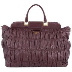 Prada Gaufre Convertible Frame Bag Nappa Leather Large