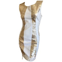 Pierre Balmain Ivory Sequin Corset Lace Embellished Mini Dress