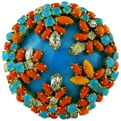 Christian Dior Vintage 1967 Jewelled Brooch