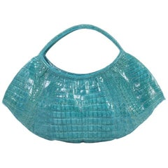 Nancy Gonzalez Crescent Shoulder Bag Crocodile Large
