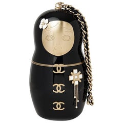 Chanel Black Plexiglass Matryoshka Doll Minaudiere, 2018