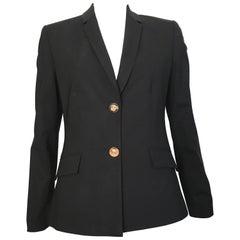 Versace Black Wool Jacket Size 6.