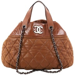Chanel In The Mix Tote Quilted Iridescent Calfskin Large