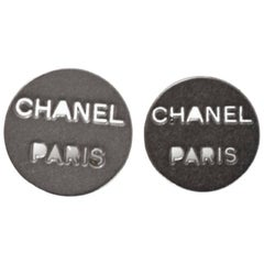 Chanel Silvertone CHANEL PARIS Buttons 16mm/18mm