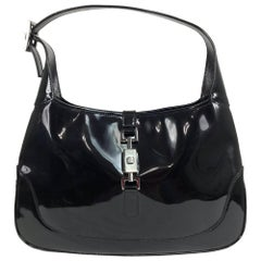 Gucci Jackie O black patent leather handbag