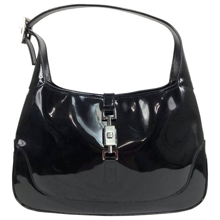 b549d13994b8 Gucci Jackie O black patent leather handbag at 1stdibs