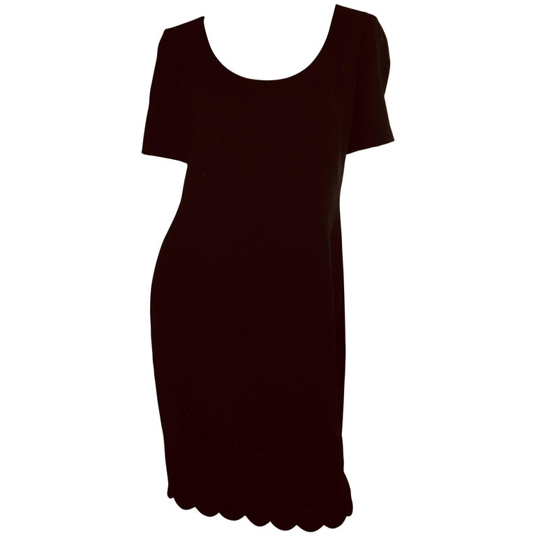 Escada Dress with Scallop Trim
