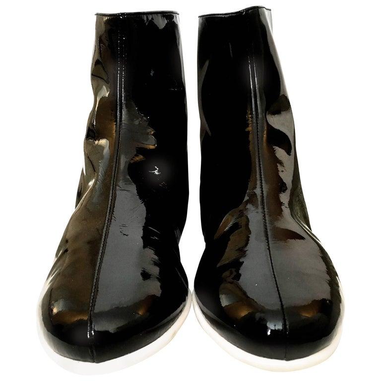 Courreges Boots - Black  Patent  New - Size 38