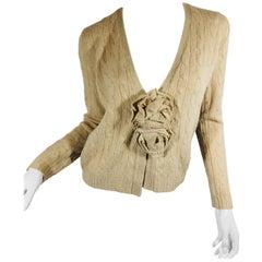 Ralph Lauren Sweater with Rosette Pin