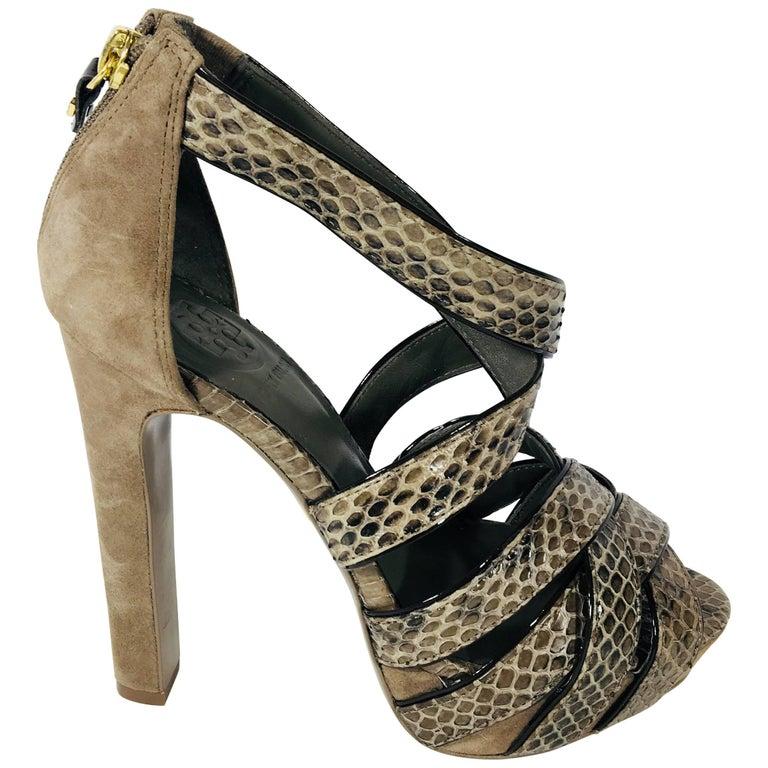Tory Burch Peep Toe Platform Sandals