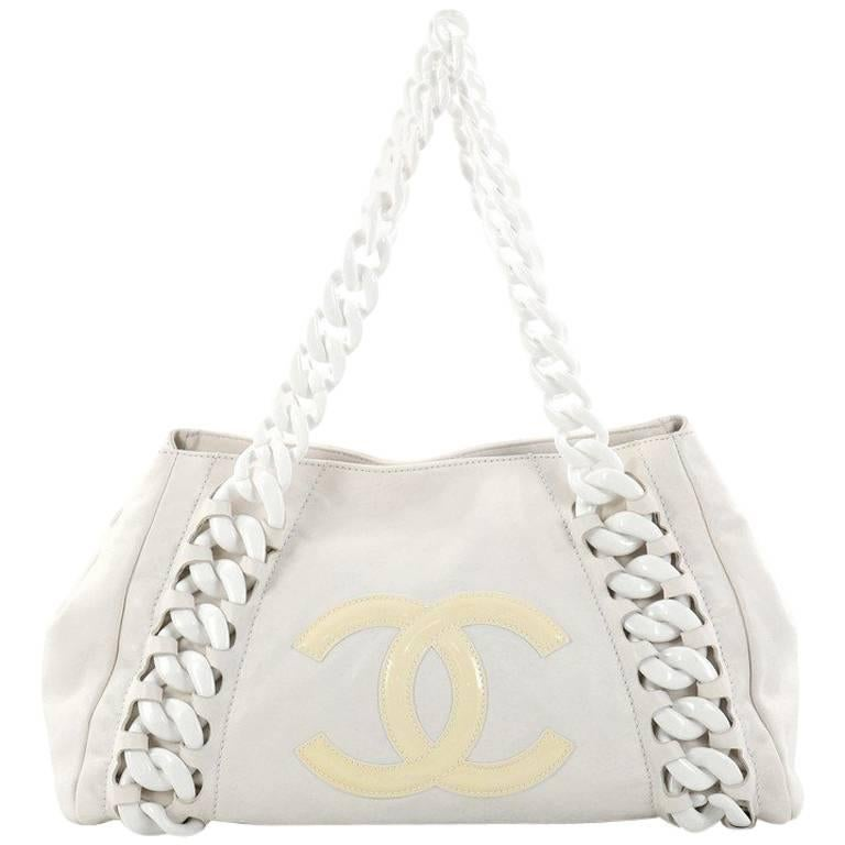 2b9a7a5745c8 Chanel Resin Modern Chain Tote Calfskin East West at 1stdibs
