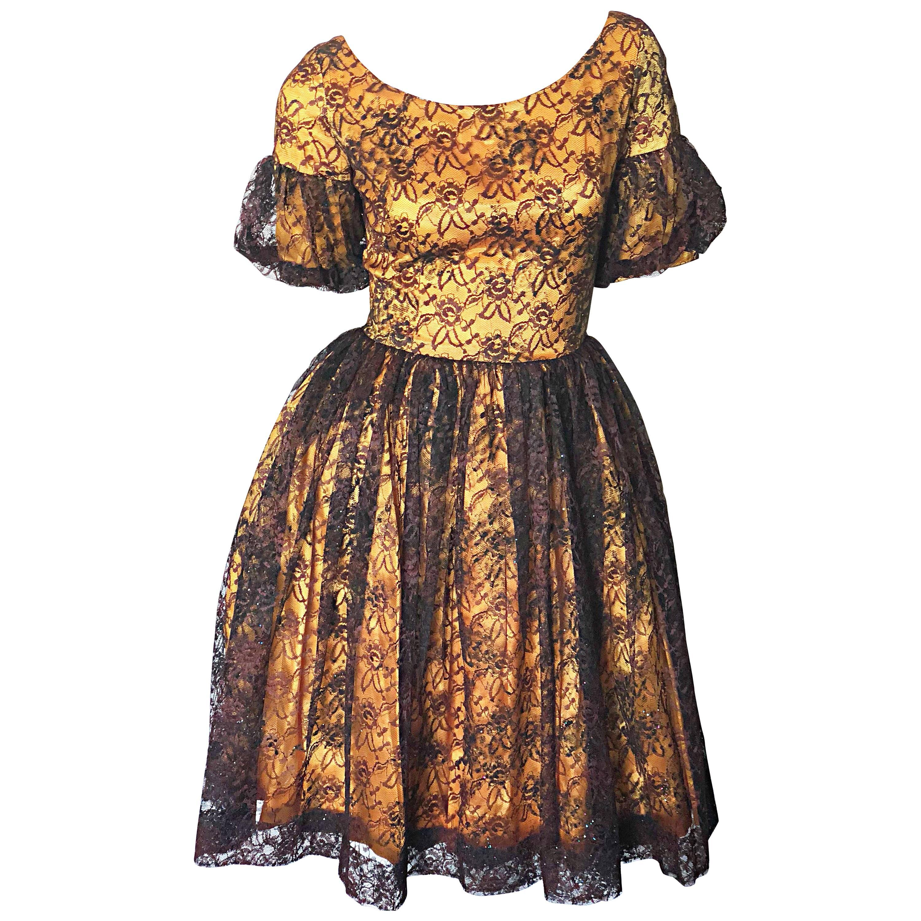 Vintage 50s Dresses with Sleeves