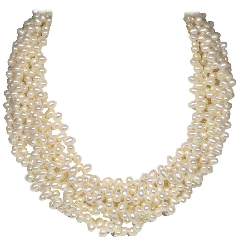 9d7be99d4 Tiffany and Co Paloma Picasso MultiStrand Pearl Necklace For Sale at ...