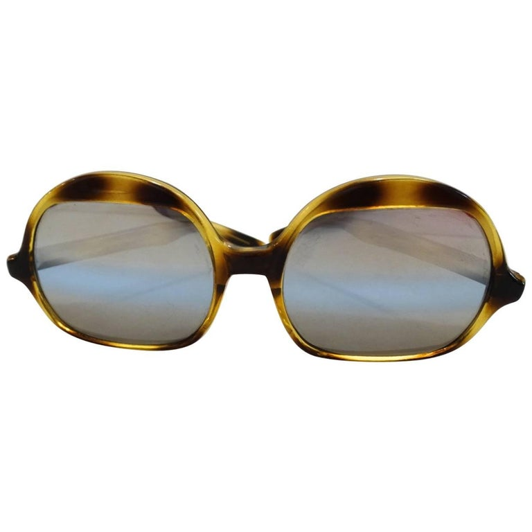 1970s Tortoise Oversized Mod Sunglasses For Sale