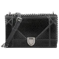 Christian Dior Diorama Flap Bag Crackled Deerskin Medium