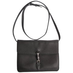 Gucci Jackie Soft Flap Convertible Wallet Bag - black