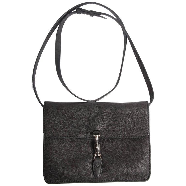 51bb3ad18de Gucci Jackie Soft Flap Convertible Wallet Bag - black at 1stdibs