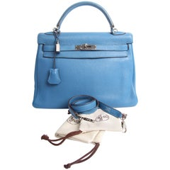 Hermes Kelly 32 Togo Leather - Izmir Blue