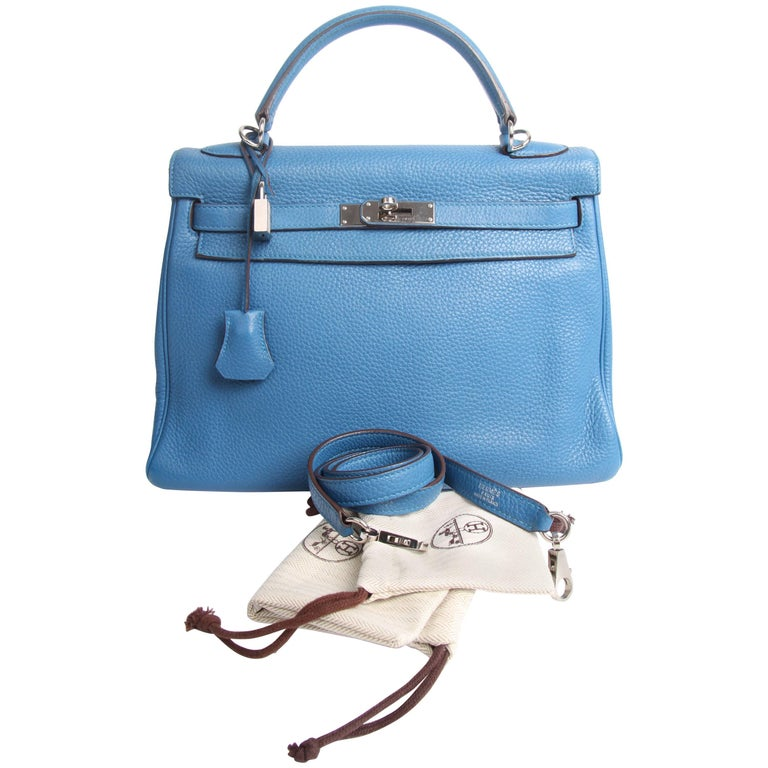 Hermes Kelly 32 Togo Leather - Izmir Blue
