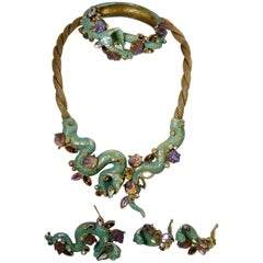 Vintage Har Complete Cobra Parure – Necklace, Earrings, Bracelet And Brooch