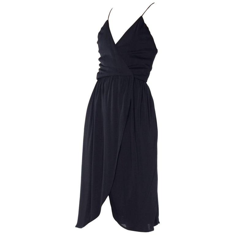 1970s Silk Jersey Richilene Mini-Dress