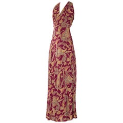 1930s Bias Cut Paisley Rayon Dress