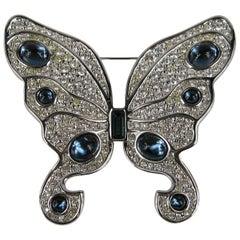 1980s Swarovski Stunning Butterfly Crystal Brooch Never Worn