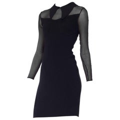 Sexy Dorothée Bis Bodycon Dress with Sheer Sleeves