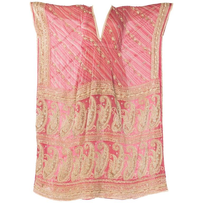 Hand Embroidered Silk Sari Kaftan