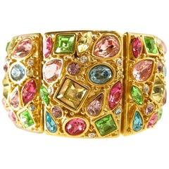 Kenneth Jay Lane Pastel Multi-Color Stretch Bracelet