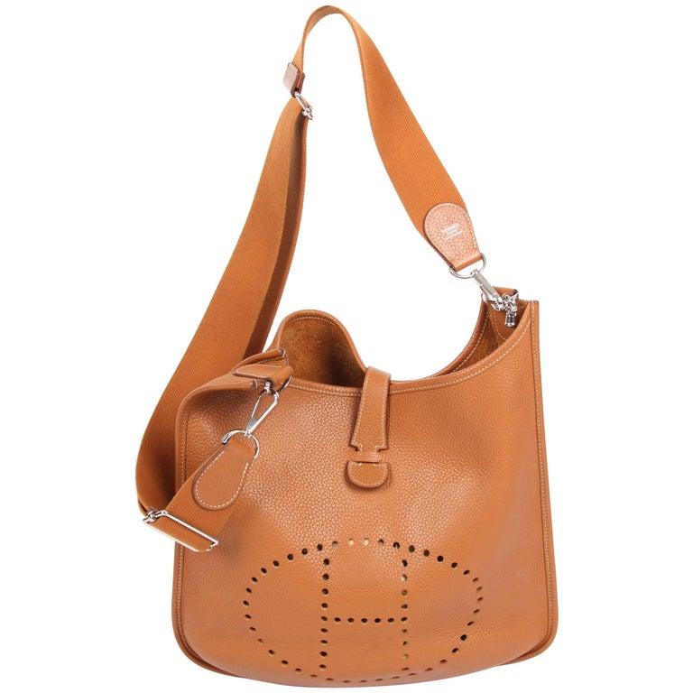 Hermes Evelyne Bag Camel For