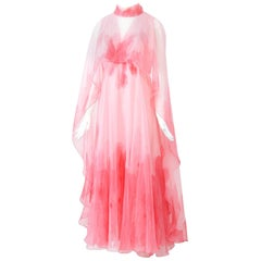Pink Watercolor Gown, 1970s