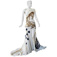 John Galliano Rare 2007 Runway Collection Finale Dress Gown