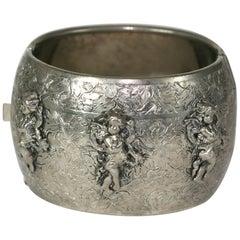Frederich Cherub Cuff Bracelet.