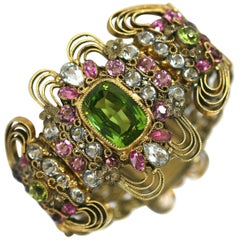 Elaborate Jeweled Hobe Bracelet