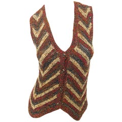 Yves Saint Laurent Vintage 1970s YSL Russian Collection 1976 Sweater Vest Top