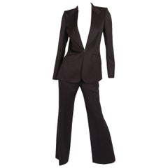 Chloe 2-pcs Suit Jacket & Trousers - brown
